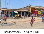 kenya   february 2015  shopping ... | Shutterstock . vector #573758431