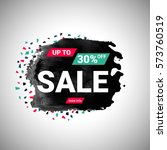 30  sale banner over black... | Shutterstock .eps vector #573760519