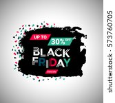 black friday sale banner over... | Shutterstock .eps vector #573760705