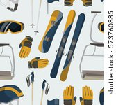 vector set of ski and snowboard ... | Shutterstock .eps vector #573760885