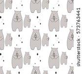 vector illustrator of cute... | Shutterstock .eps vector #573763441