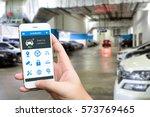 auto park   pick me up   auto... | Shutterstock . vector #573769465