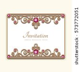 vintage card with diamond... | Shutterstock .eps vector #573772051