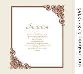vintage gold rectangle frame... | Shutterstock .eps vector #573772195