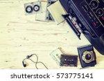 cassette player  cassette... | Shutterstock . vector #573775141