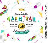 carnival abstract background in ... | Shutterstock .eps vector #573775924