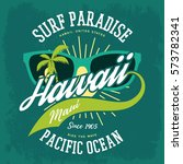 surfing holiday sign for... | Shutterstock .eps vector #573782341