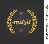 awards of best music with... | Shutterstock .eps vector #573783559
