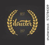 awards of best director with... | Shutterstock .eps vector #573784309