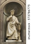 Small photo of Statue of Dante in Florence , Italy