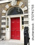 Small photo of Bloomsbury in West End of London, UK - beautiful Georgian front door.