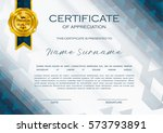 qualification certificate of... | Shutterstock .eps vector #573793891