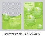 green brochure template flyer... | Shutterstock .eps vector #573796009