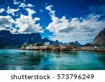 lofoten islands is an... | Shutterstock . vector #573796249