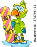coloring page of cartoon... | Shutterstock .eps vector #573796435