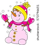 coloring page of cartoon... | Shutterstock .eps vector #573796651