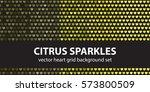 "heart pattern set ""citrus...   Shutterstock .eps vector #573800509"