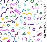 abstract vector seamless... | Shutterstock .eps vector #573801217