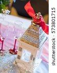wedding decor at this winter... | Shutterstock . vector #573801715