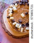 cheesecake at a wedding... | Shutterstock . vector #573801721