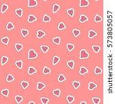 hearts seamless pattern. vector ...   Shutterstock .eps vector #573805057