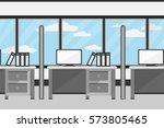 interior office design.vector... | Shutterstock .eps vector #573805465