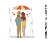 lovers couple cartoon in the... | Shutterstock .eps vector #573806545