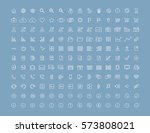 modern user interface flat thin ... | Shutterstock .eps vector #573808021