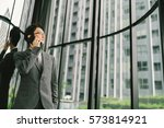 asian businessman or... | Shutterstock . vector #573814921