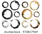 circle acrylic and watercolor... | Shutterstock . vector #573817969