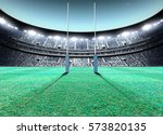 a generic seated rugby stadium... | Shutterstock . vector #573820135