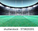 a generic seated aussie rules... | Shutterstock . vector #573820201
