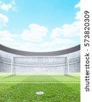 a generic seated soccer stadium ... | Shutterstock . vector #573820309