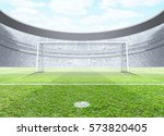 a generic seated soccer stadium ... | Shutterstock . vector #573820405