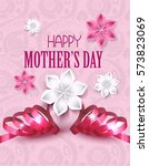 mother's day greeting card with ... | Shutterstock .eps vector #573823069