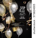 vip party invitation card with... | Shutterstock .eps vector #573824005
