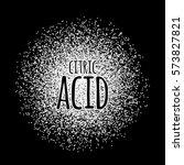 citric acid as a white powder