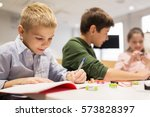 education  children  technology ... | Shutterstock . vector #573828397