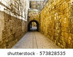 Narrow Alley In The Old City O...