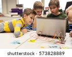 education  children  technology ... | Shutterstock . vector #573828889