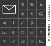 mail. linear internet icons set....