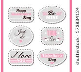 badges for valentines day. can... | Shutterstock .eps vector #573834124