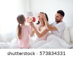 people  family  holidays and... | Shutterstock . vector #573834331