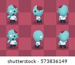 big head zombie walking cartoon ...   Shutterstock .eps vector #573836149