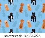 Stock vector dog wallpaper 573836224