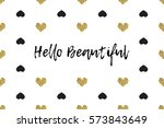 valentine greeting card with... | Shutterstock .eps vector #573843649