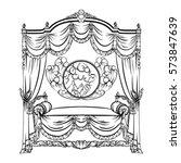vector illustration of baroque... | Shutterstock .eps vector #573847639