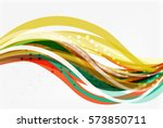 colorful wave abstract...