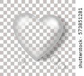 Vector Realistic Heart Shaped...