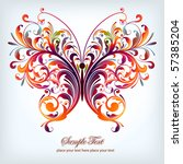 abstract floral butterfly | Shutterstock .eps vector #57385204